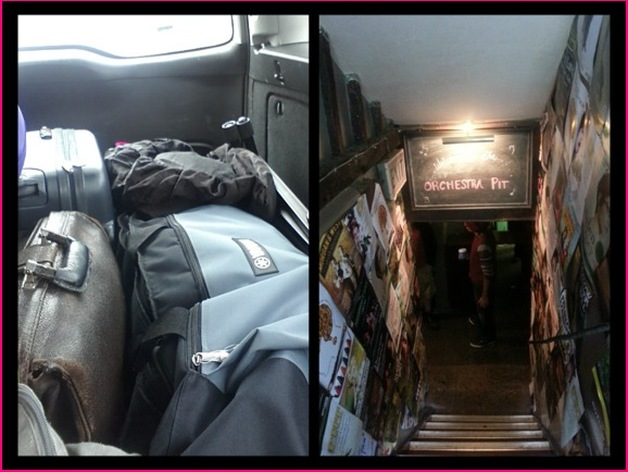 The van is packed, and ready to unload into the venue!